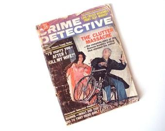 """Vintage """"Crime Detective"""" Pulp Magazine, April, 1964"""