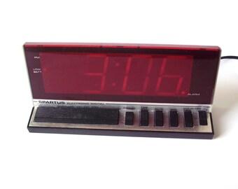 Vintage Spartus Digital Alarm Clock, Large Numbers