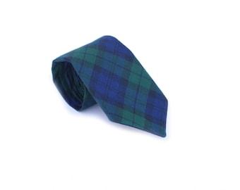 Green Tartan Neck Tie