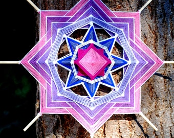 Cotton Candy 24 inch yarn mandala god's eye ojo de dios