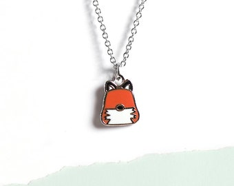 Red Fox Necklace Fox Jewelry Gifts for Her