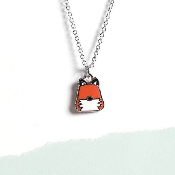 Red Fox Necklace Fox Jewelry