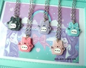 Resin Totoro Glitter Necklace