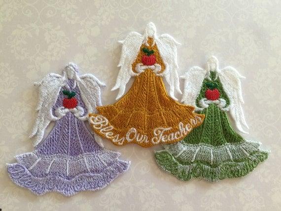 Lace Angel,  Teacher Angel, Embroidery Lace Angel, School Teacher's Angel
