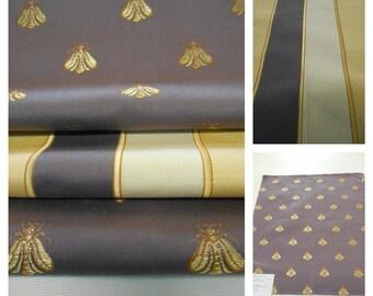 Kravet Couture Neopolitan Brocade Fabric- Plum- 3pcs fabric Remnant-