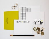 Modern Love Couple's Stationery