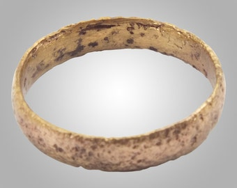 Vintage Antique Ancient Wedding band Viking Ring C.866-1067AD. Size 6 1/2   (16.9mm)(BRR124)