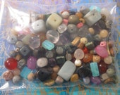 By the Ounce Assortment of New Loose Semi Precious Gemstone Beads -- Assorted Sizes, Shapes, Colors