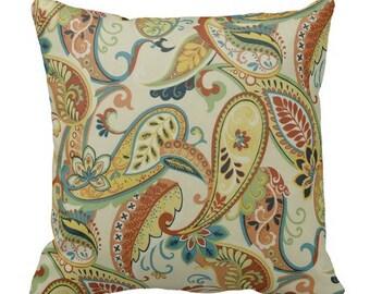 Outdoor paisley pillows,Patio Decor,Throw Pillows,outdoor Pillow covers, Outdoor cushion covers, outdoor decor, Outdoor Pillows