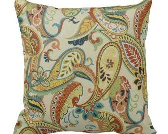 Paisley Pillows, Throw Pillows, Pillow Covers, Cushion Covers, Decor, Euro  Shams