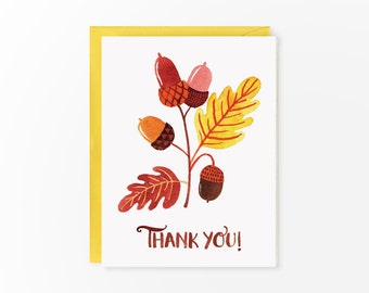 Thank You autumn card