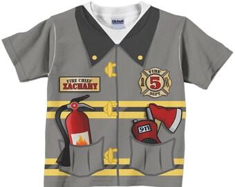 Boys Fireman Shirt, Personalized Boys Firefighter, Fire Man T-shirt, Fireman Birthday T-Shirt, Firefighter Birthday Shirt, Fireman Outfit