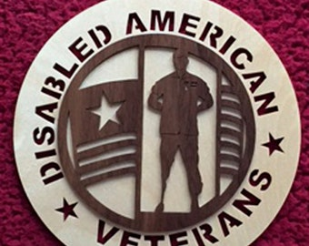 Disabled Vet - Disable American Veterans - Veterans Plaque