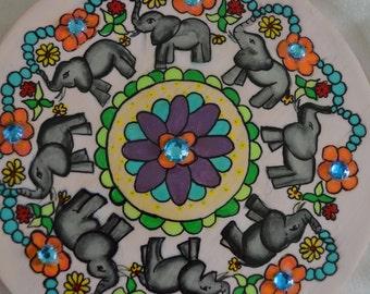 Elephant Mandala Wall Hanging