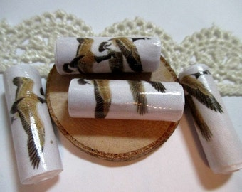 Paper Bead Canadian Geese- 12 Paper Beads