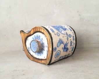 Jewelry box, scandinavian Jewelry storage keepsake drawer vintage wooden box, fox pattern, FREE SHIPPING