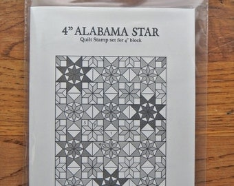 "4"" ALABAMA STAR Quilt Stamp set (only rubbers)"