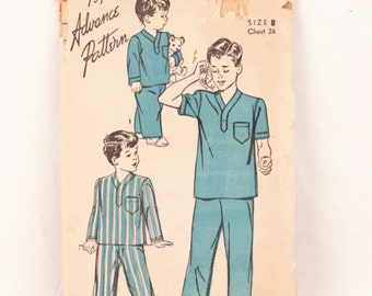 1940s Advance 4190 // boy's pajama pattern