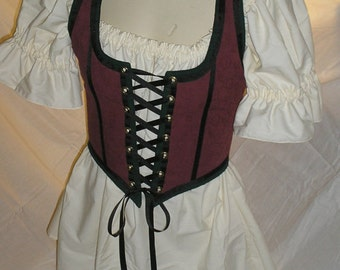Romantic Renaissance Chemise Shirt with Short Sleeves, Shirt Only