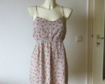 SALE Floral grunge babydoll dress