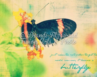 Butterfly Wings Pastel  Fusion Art At Checkout, Choose Lustre Print or Gallery Wrapped Canvas