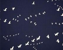 Flight Birds on Dusk From Birch Organic Fabric's Bear Camp Collection by Jay-Cyn Designs