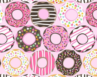 IN STOCK - Doughnut Love on Light Pink from Blend Fabric's Lolly Collection by Maude Asbury - EXCLUSIVE