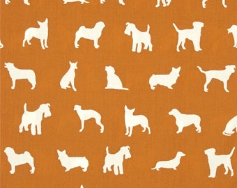 The Dog Show on Orange From Birch Organic Fabric's Farm Fresh Collection by Jay-Cyn Designs
