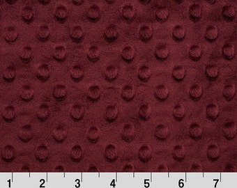 Merlot Dimple Minky From Shannon Fabrics