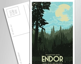 Endor Vacation Postcard - 4 x 6 inches - Star Wars - Ewok - Forest Moon