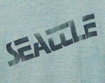 Vintage 80s Seattle Blue Ringer T-Shirt