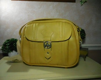 Vintage 1970's American Tourister Escort Mustard Yellow Travel Bag New Old Stock