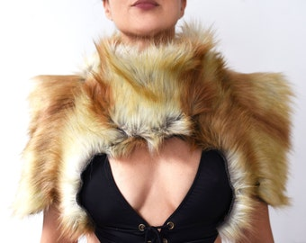 "Play in Style - The ""Absolutely Fabulous"" - Faux Fur Bolero - Burning man"
