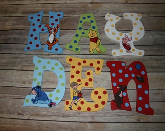 Winnie the Pooh Inspired Hand Painted Letters ***MESSAGE BEFORE ORDERING***