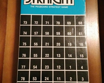 Vintage Complete 1968 Board Game Five Straight  5IVE Straight