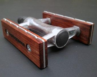 wooden bicycle pedals - bubinga wood