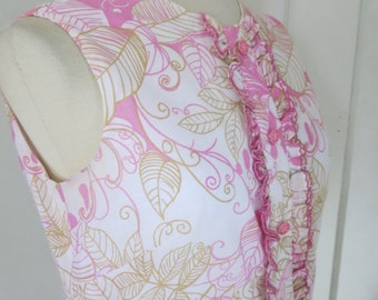 Pink Floral 60s dress Mod