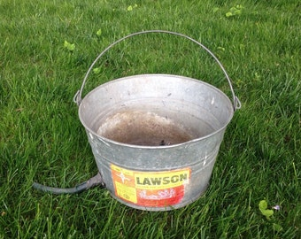 Galvanized metal bucket planter