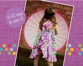 Sophia's Open Back Ruffled Dress PDF Pattern sizes 6-12 months to 8 NEW sizes