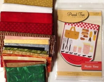 Picnic Time Kit - complete with fabric