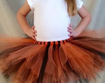 Black and Orange Tutu Girls sizes 6-14, Halloween, Tiger, Witch, Costume Tutu, Photo Prop