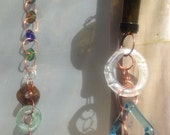 Custom ordered 8' @10 dollars a foot Recycled glass rain chain downspout reclaimed copper