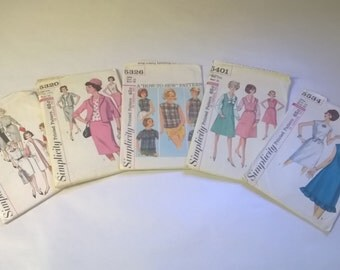 5 Pack Assorted Vintage Simplicity Sewing Patterns SIM 5263