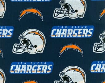 NFL San Diego Chargers 100% Cotton Fabric by the yard