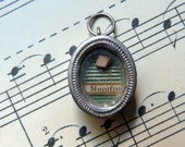 Rare Antique French religious miraculous relic pendant locket w saint Louis de Montfort religious reliquary pendant icon w holy virgin Mary