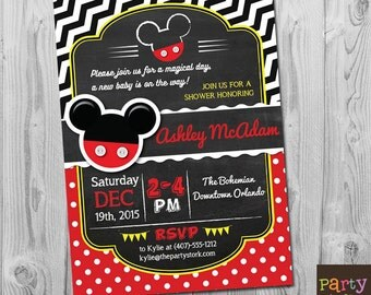 mickey mouse baby shower invitations mickey mouse baby shower baby shower invitations for boys