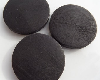10CT Black Wood Circular Beads 31mm*4mm S36