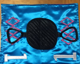Deluxe Doggie Saddle Blanket-  faux saddle and and faux stirrups. Custom Order Only.