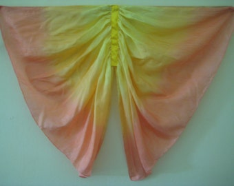 Butterfly Wings Costume, Yellow, Orange and Red Small Silk Fairy Wings