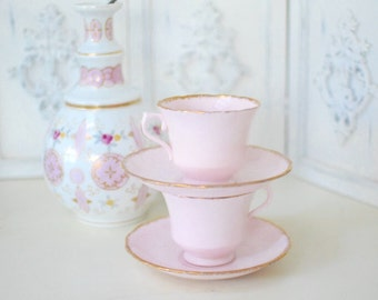 All Pink Teacup Set - Made in England